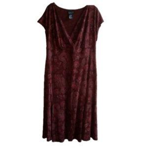 Scarlett Women's Plus Burgundy Dress - Size: 18W